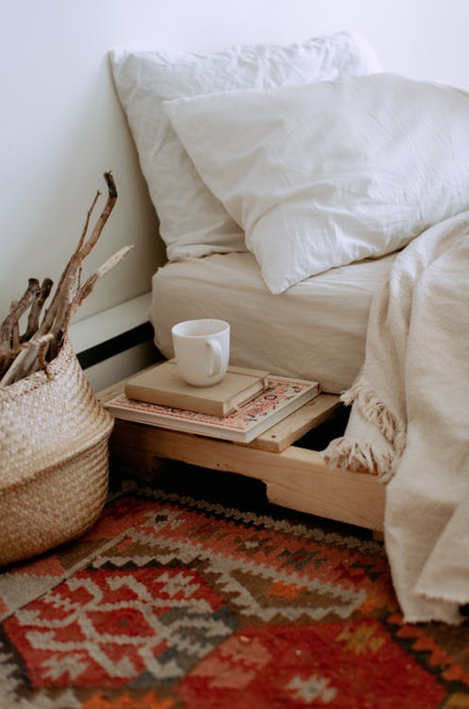 Color and pattern decorated through a variety of textiles and furniture pieces in your space